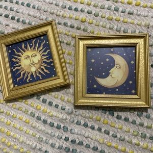 Sun and moon decorations